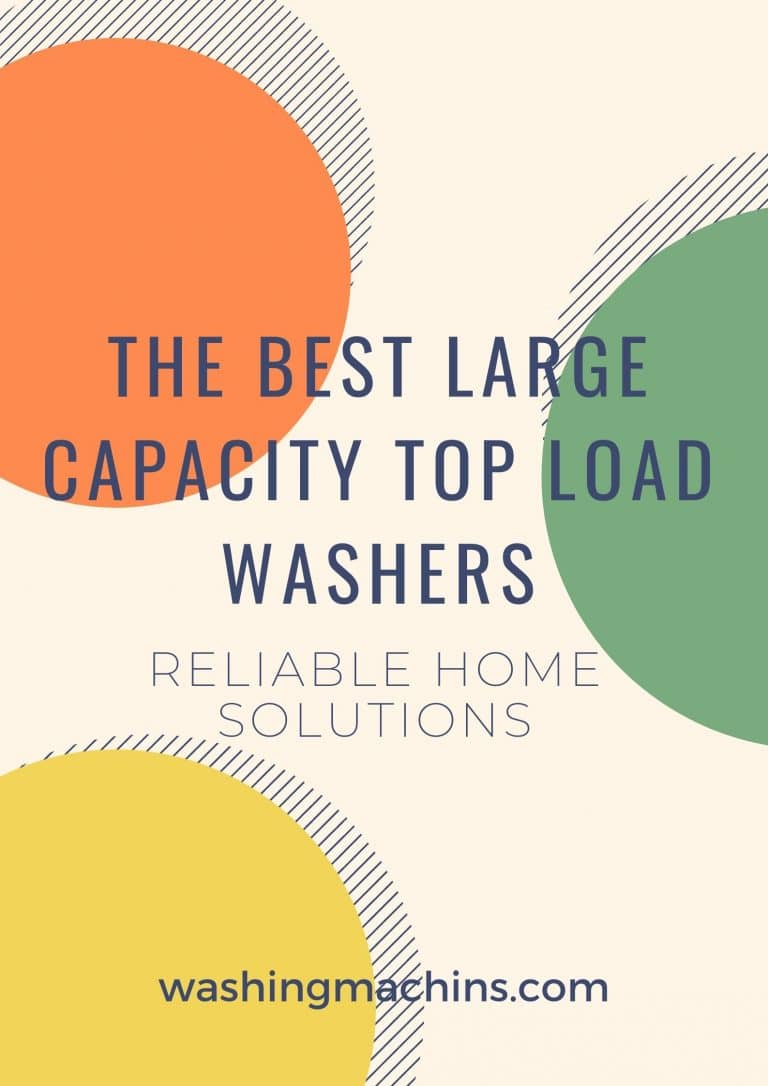 best large capacity top load washer