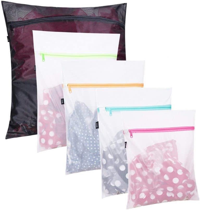 BAGAIL Set of 5 Mesh Laundry Bags