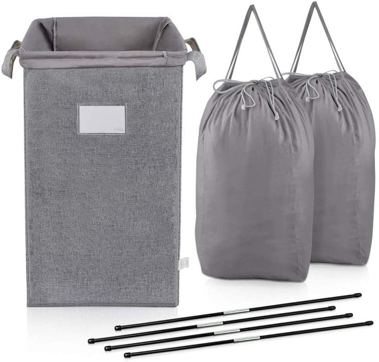 MCleanPin Large Laundry Hamper and 2 Laundry Bags