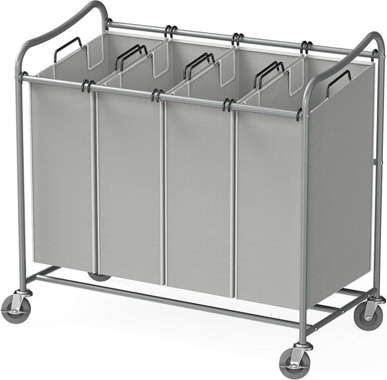 Simple Houseware 4-Bag Laundry Sorter Rolling Cart