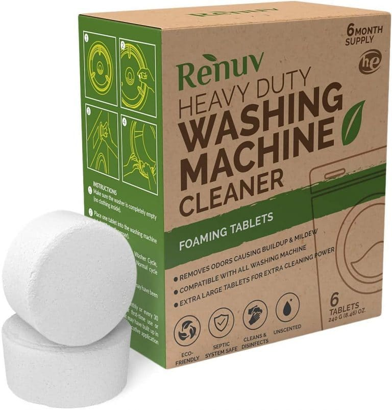 Renuv Washing Machine Cleaner For Front Load, Top Load or HE