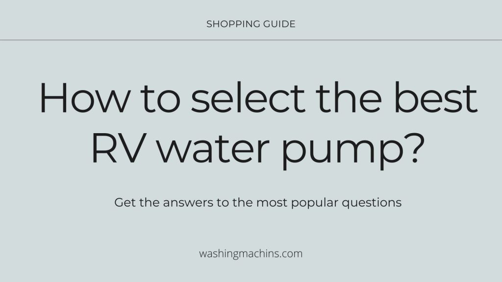 camper water pump